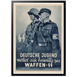 German youth - volunteer for the Waffen-SS Poster - World War Era