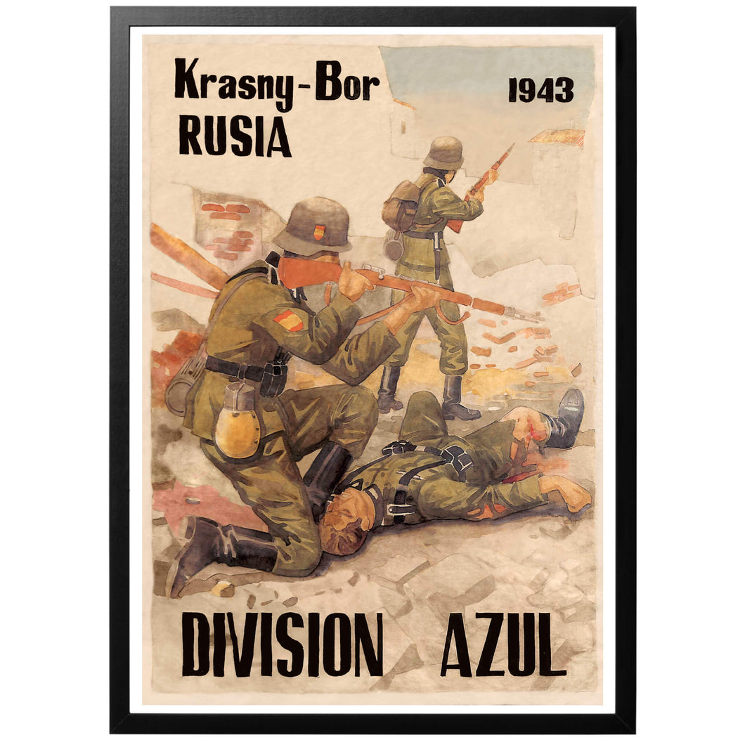 The blue division Poster - World War Era