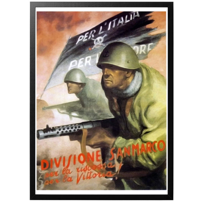 Division San Marco - prepared for victory! Poster - World War Era