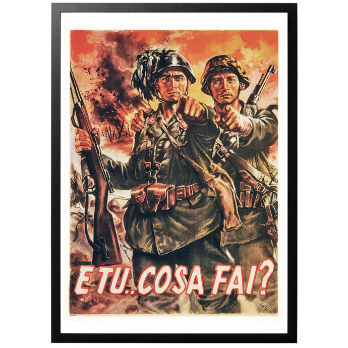 And you... what are you doing? Poster - World War Era