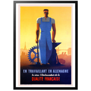 As a worker in Germany Poster - World War Era