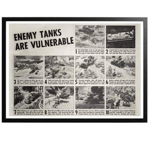 Enemy Tanks are Vulnerable! Poster