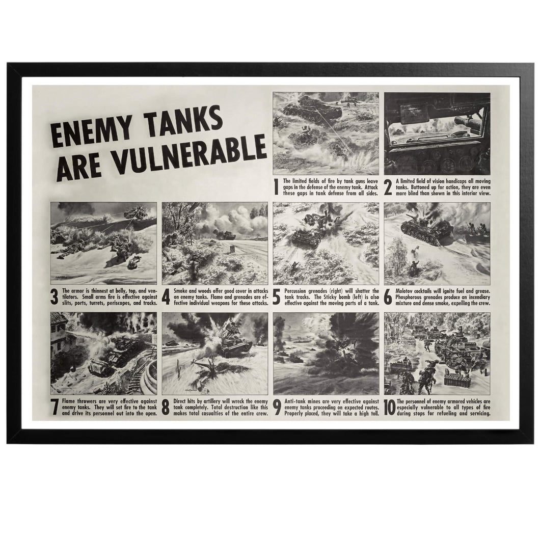 Enemy Tanks are Vulnerable! Poster - World War Era
