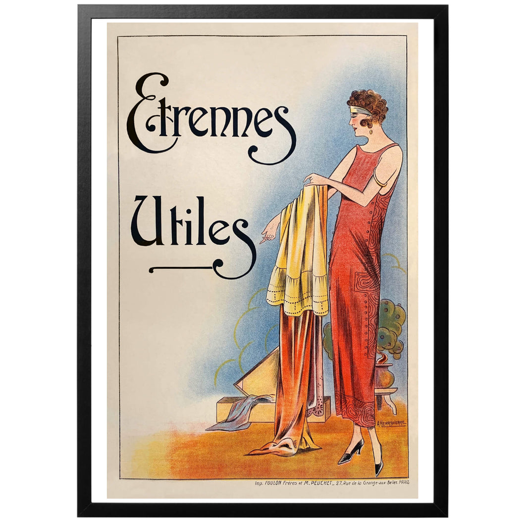 Étrennes Utiles Poster - World War Era