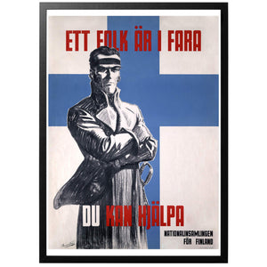 A people is in danger Poster - World War Era