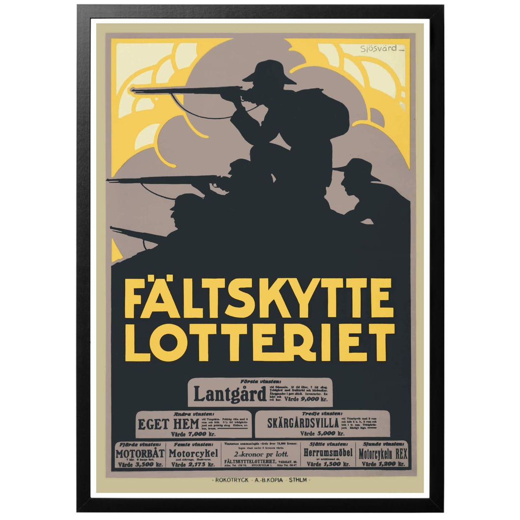 Fältskyttelotteriet Poster - World War Era
