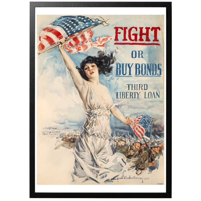 Fight Or Buy Bonds Poster - World War Era