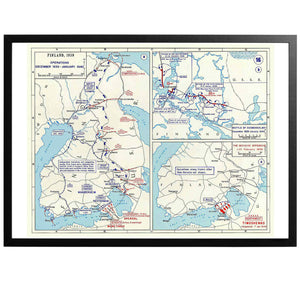 Finnish Winter War - War Map Poster - World War Era