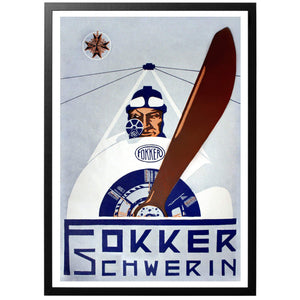 Fokker Schwerin Poster - World War Era