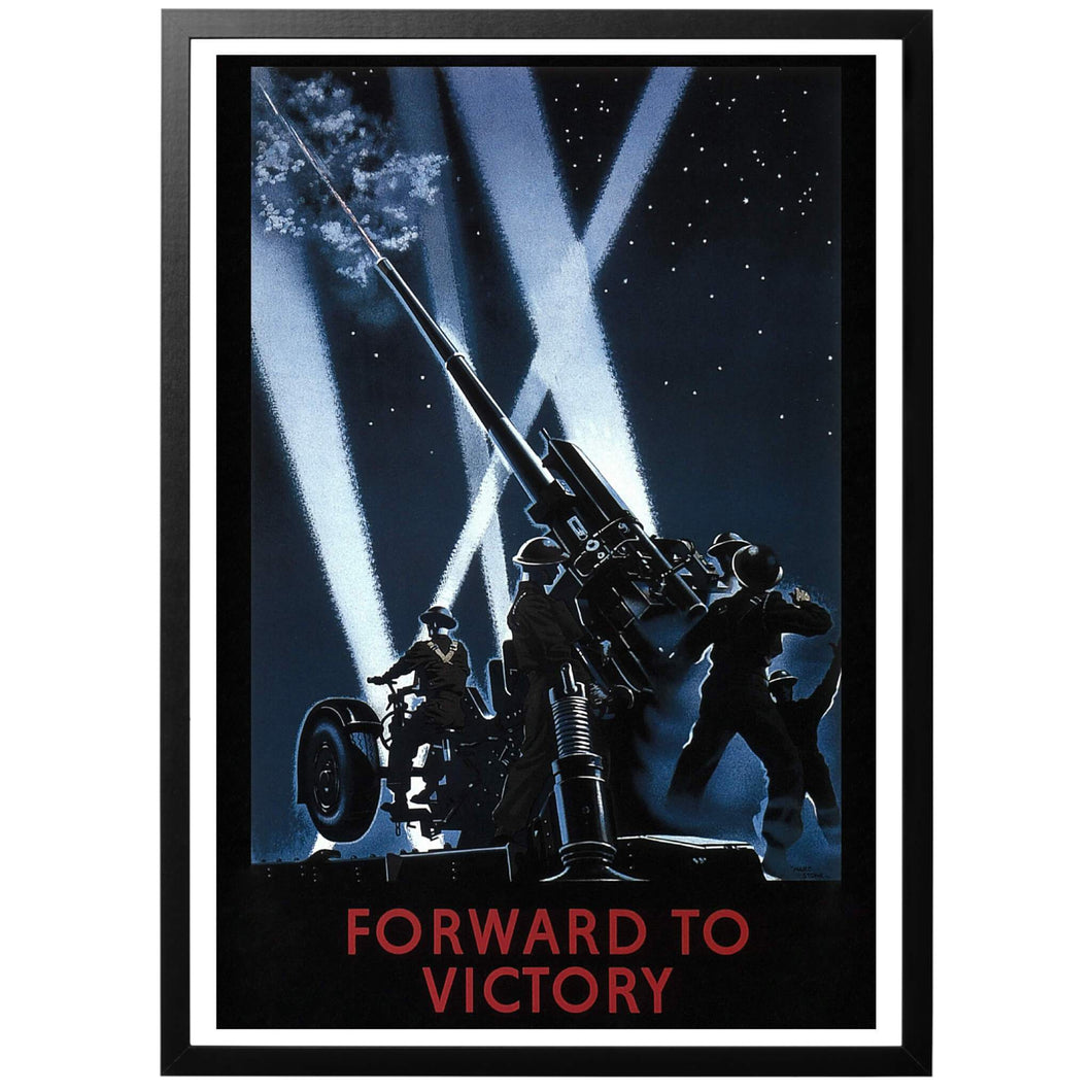 Forward To Victory Poster - World War Era