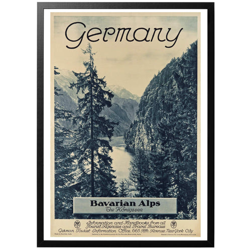 Germany Bavarian Alps Poster - World War Era