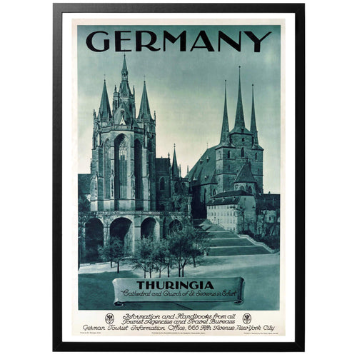 Germany Thuringia Poster - World War Era