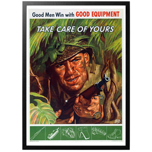 Good Men Win With Good Equipment Poster - World War Era