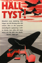 Load image into Gallery viewer, Swedish war poster made by pharmaceutical company Astra (now AstraZeneca). Domestic pharmaceutical production was of upmost importance due to the shortage of medical supplies during the war.
