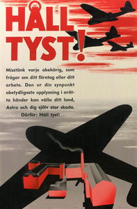 Swedish war poster made by pharmaceutical company Astra (now AstraZeneca). Domestic pharmaceutical production was of upmost importance due to the shortage of medical supplies during the war.