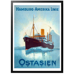 Hamburg-Amerika Linie Ostasien Poster - World War Era
