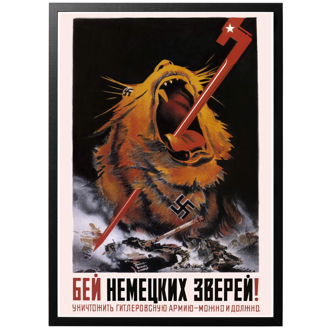 Hold The German Beasts at Bay Poster