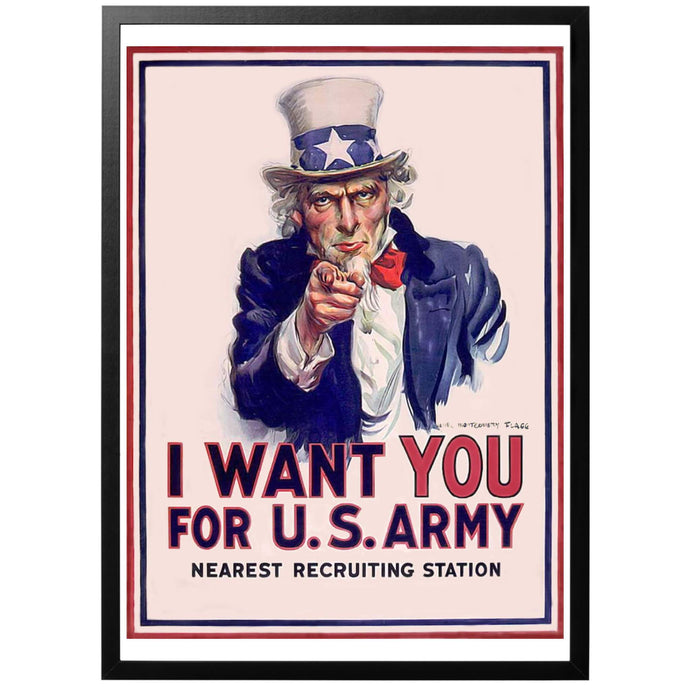 I want you for US Army Poster - World War Era