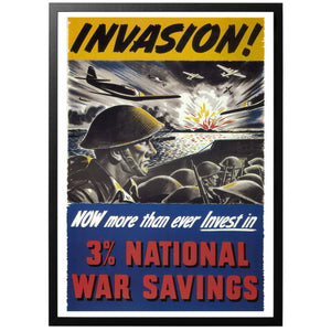 Invasion National War Savings Poster - World War Era