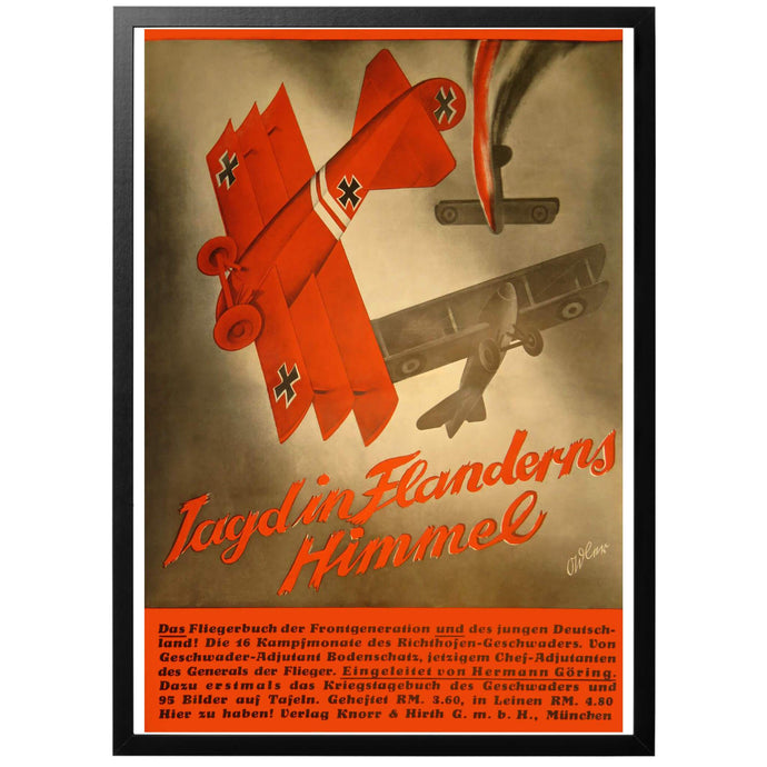 Jagd in Flanderns Himmel Poster - World War Era