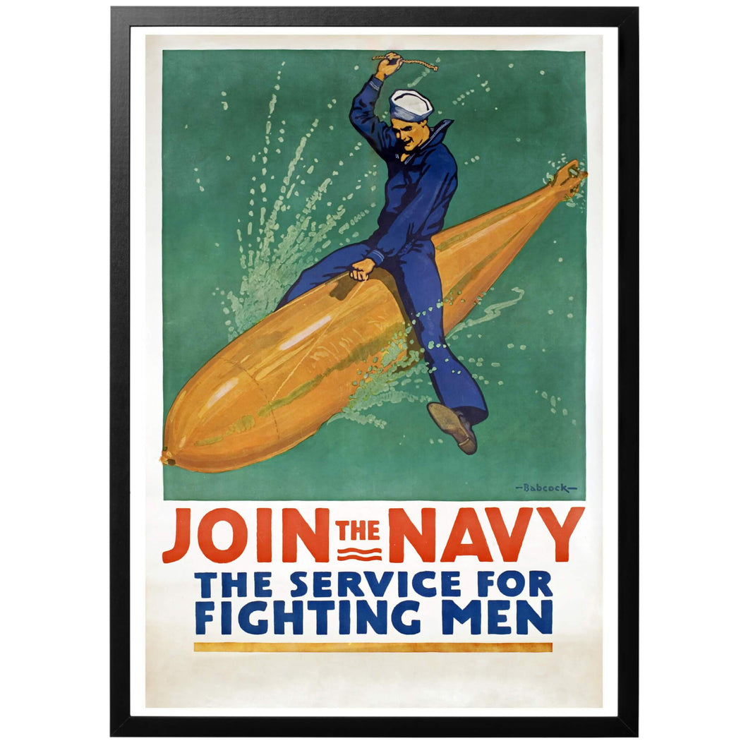 Join the Navy - The service for Fighting Men Poster