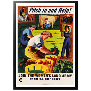 Join the Women's Land Army Poster - World War Era