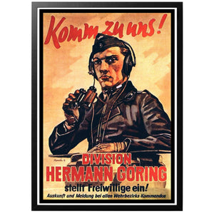 Komm zu uns! Division Hermann Göring Poster - World War Era