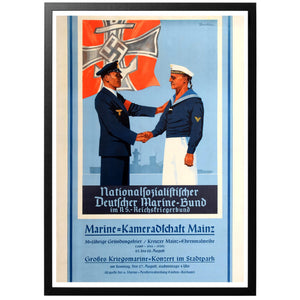 Nationalfozialiftifcher - Deutcher Marine-Bund Poster - World War Era
