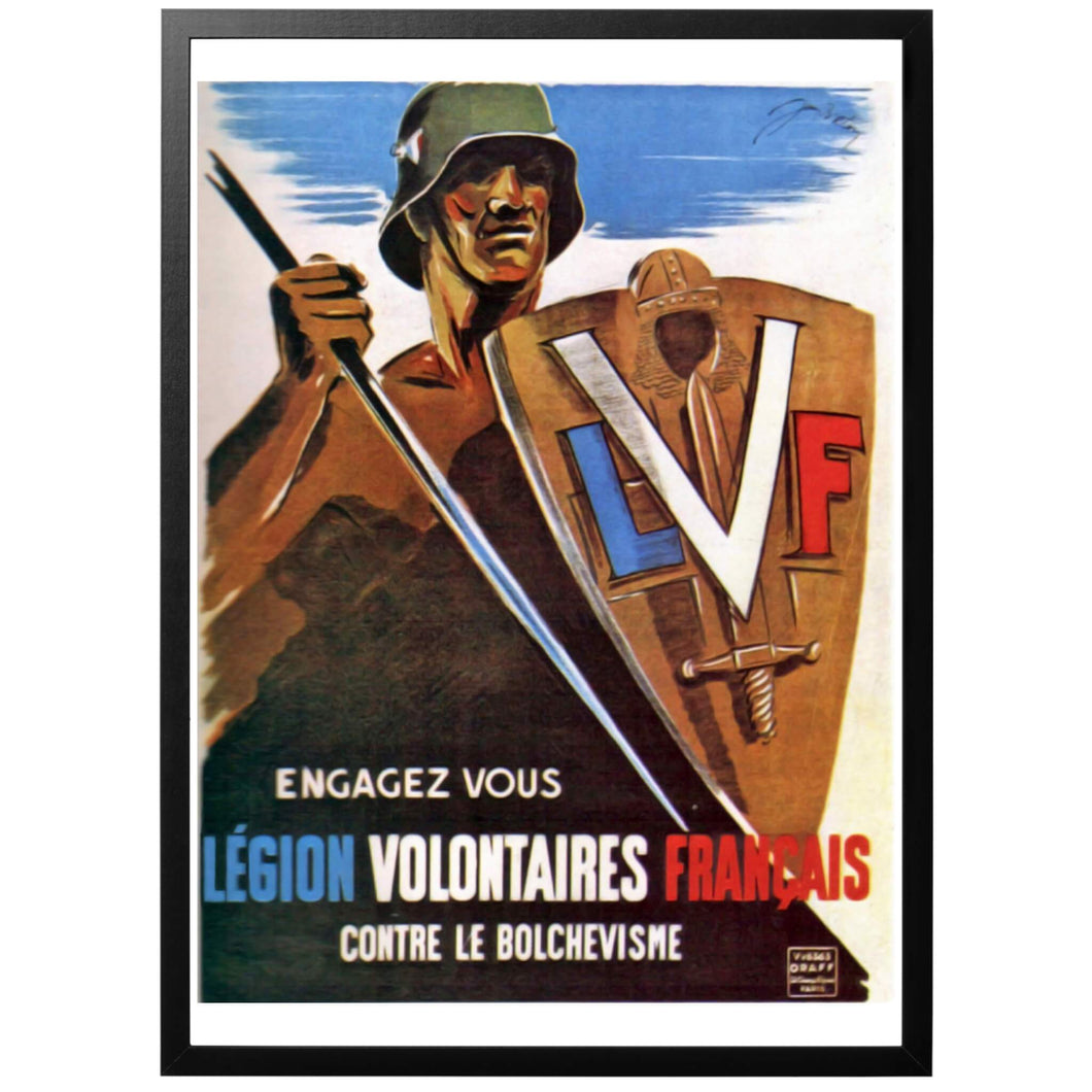 La Légion des volontaires Francais Poster - World War Era