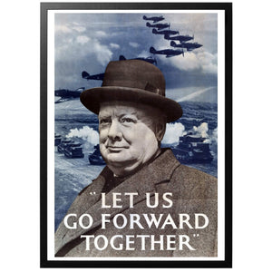Let us Go Forward Together Poster - World War Era