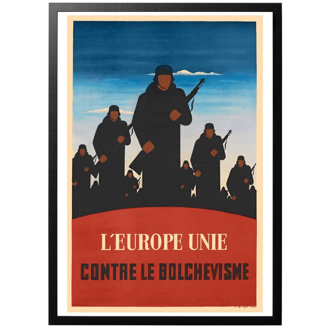L'Europe Unie Contre Le Bolchevisme Poster - World War Era