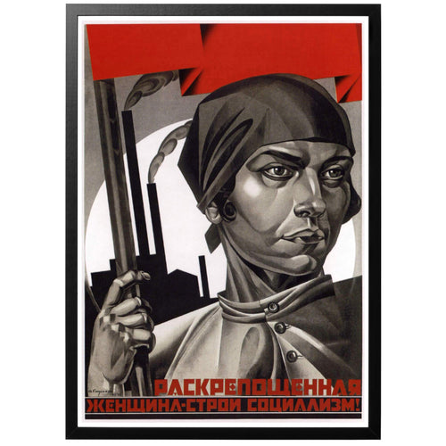 Liberated women - Build Up Socialism Poster - World War Era