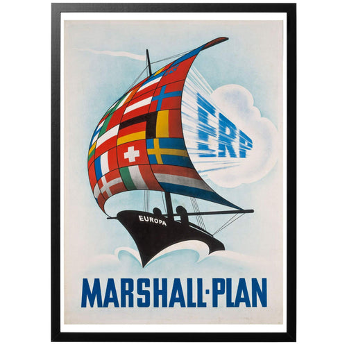 Marshall-Plan Poster - World War Era