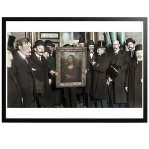 Mona Lisa Colourized vintage photography with frame