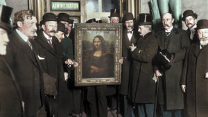 Mona Lisa Colourized vintage photography without frame
