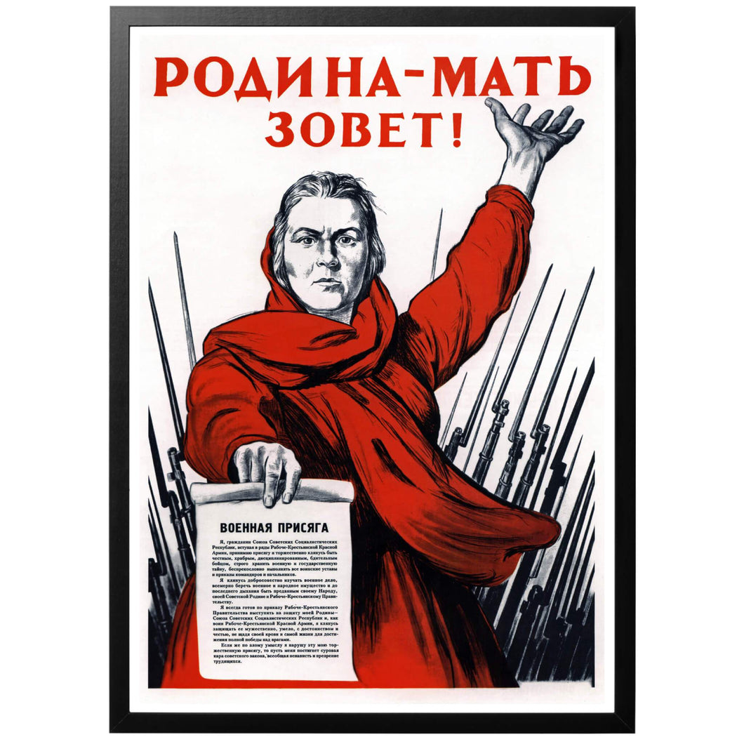 Motherland is calling! - Soviet propaganda - World War Era