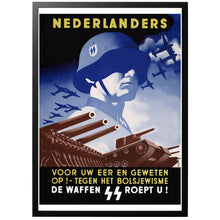 Load image into Gallery viewer, Nederlanders Voor Uw Eer En Geweten Op! Poster - World War Era