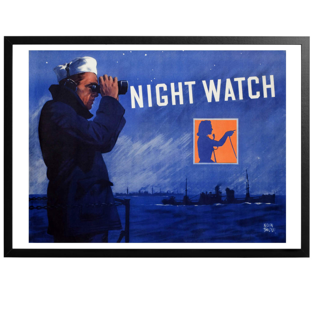 Night Watch Poster - World War Era