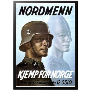 Nordmenn Kjemp for Norge Poster - World War Era