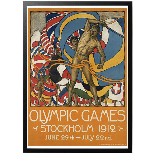 Olympic Games Stockholm 1912 Poster - World War Era