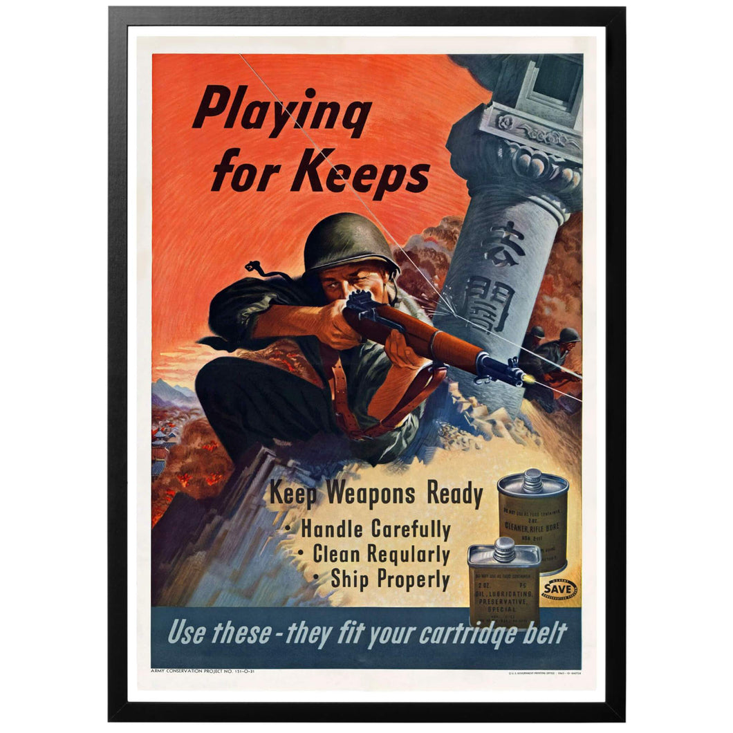 Playing For Keeps Poster - World War Era