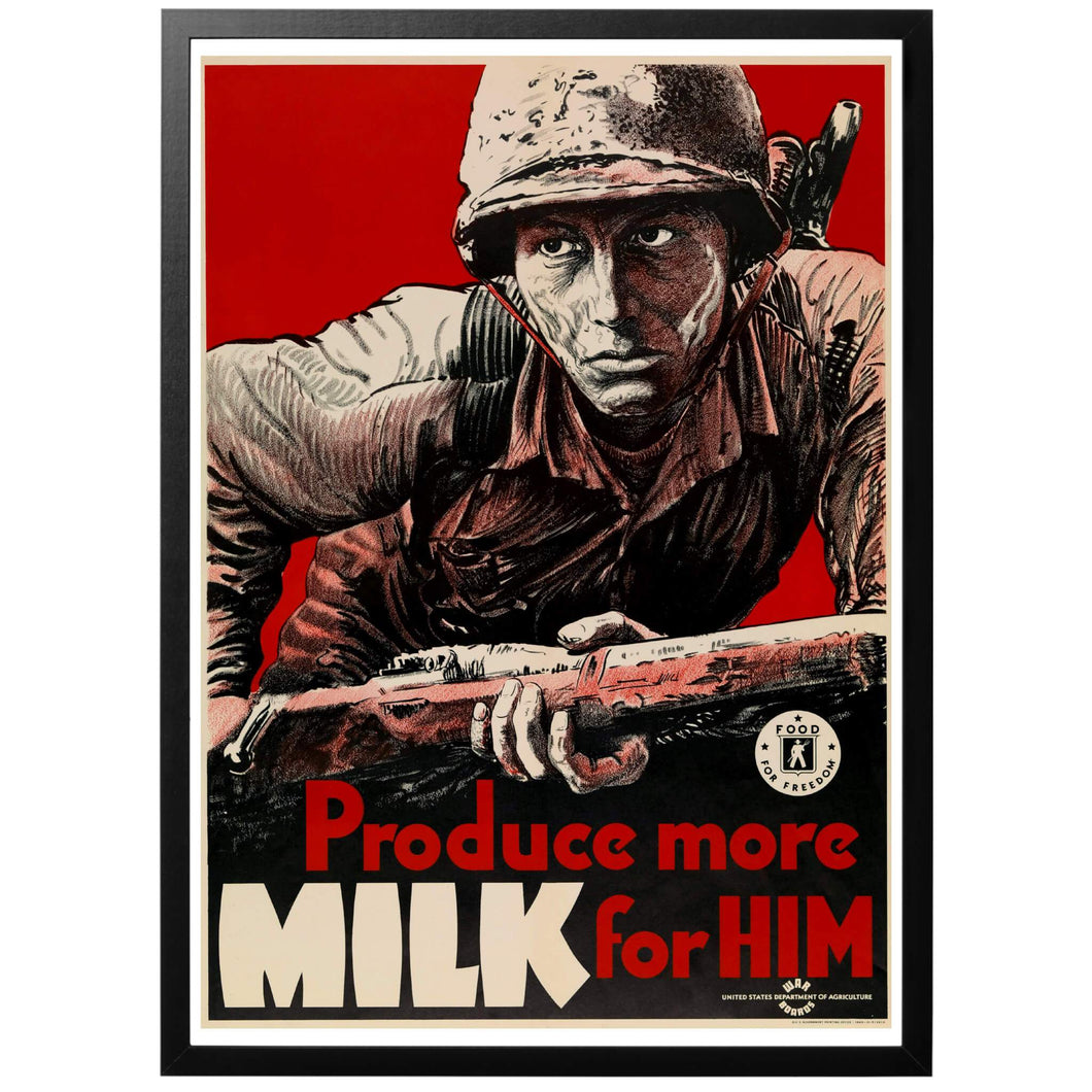 Produce More Milk For Him Poster - World War Era