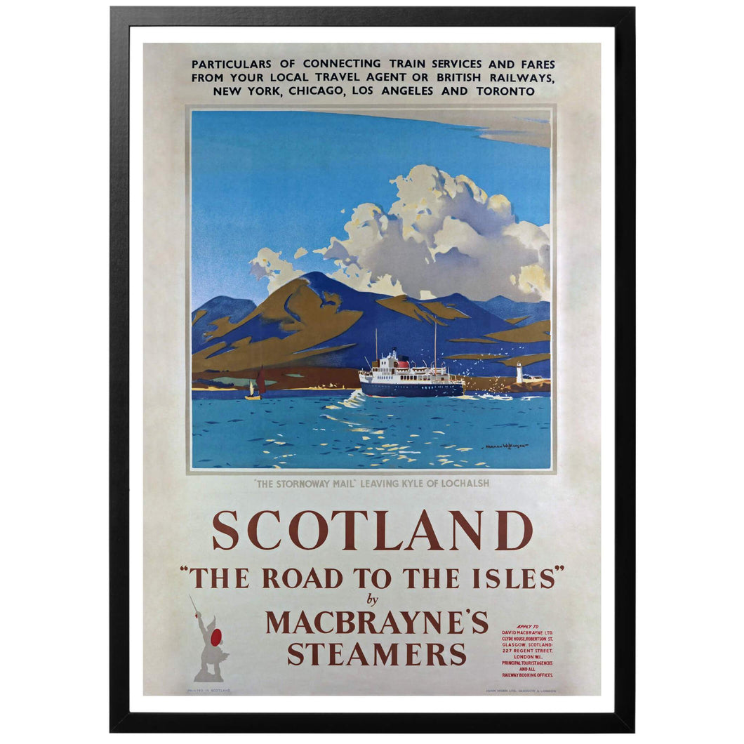 Scotland - The road to the Isles Poster - World War Era