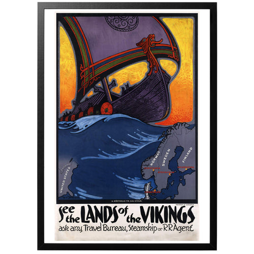See the lands of the Vikings Poster - World War Era