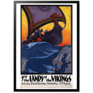 See the lands of the Vikings Poster