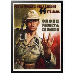 SS Italiana Poster - World War Era
