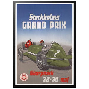Stockholms Grand Prix 1948 Poster - World War Era