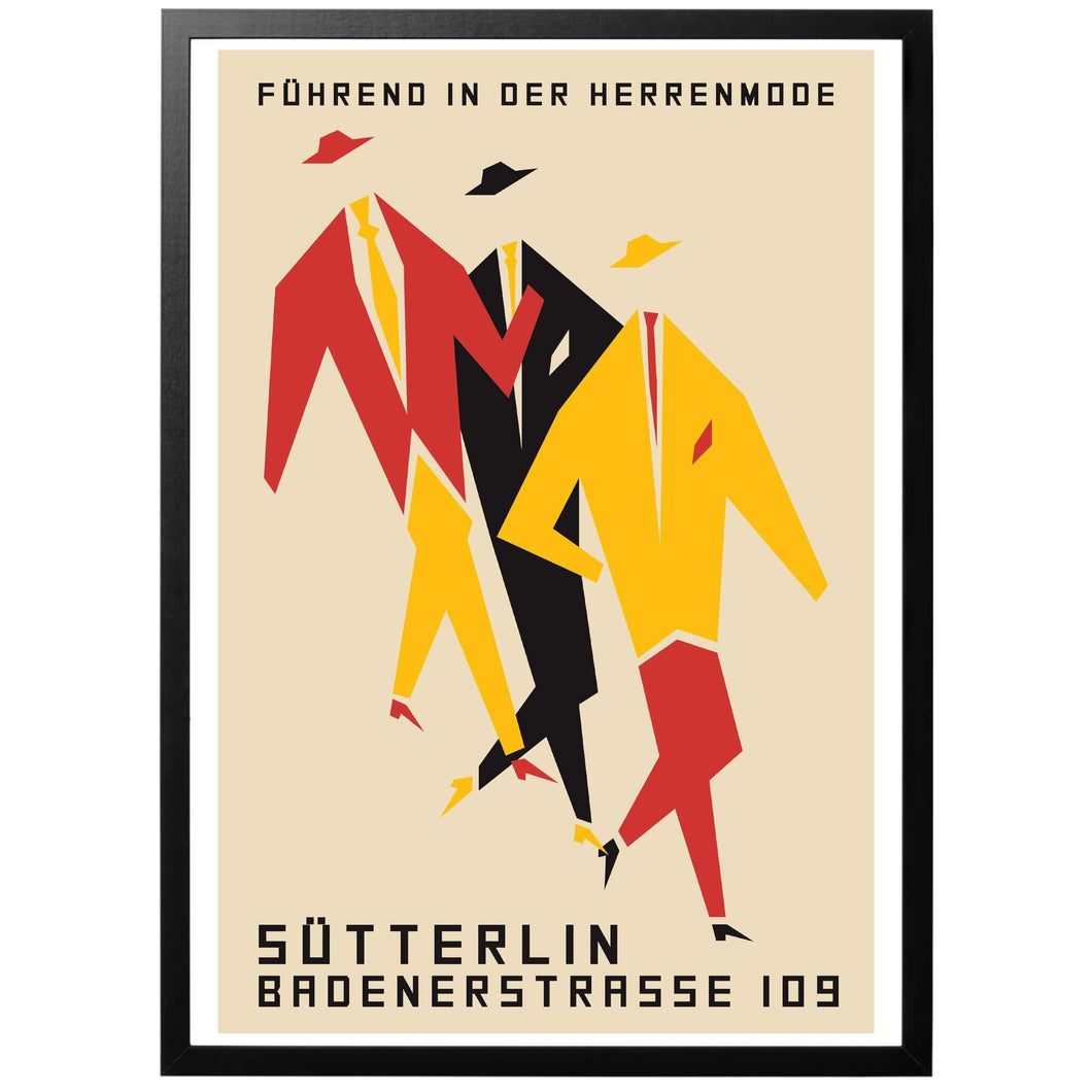 Sütterlin, Führend in der Herrenmode Poster - World War Era