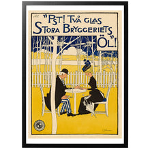 Load image into Gallery viewer, Pst! Two glasses of the  great brewery's beer! Poster - World War Era