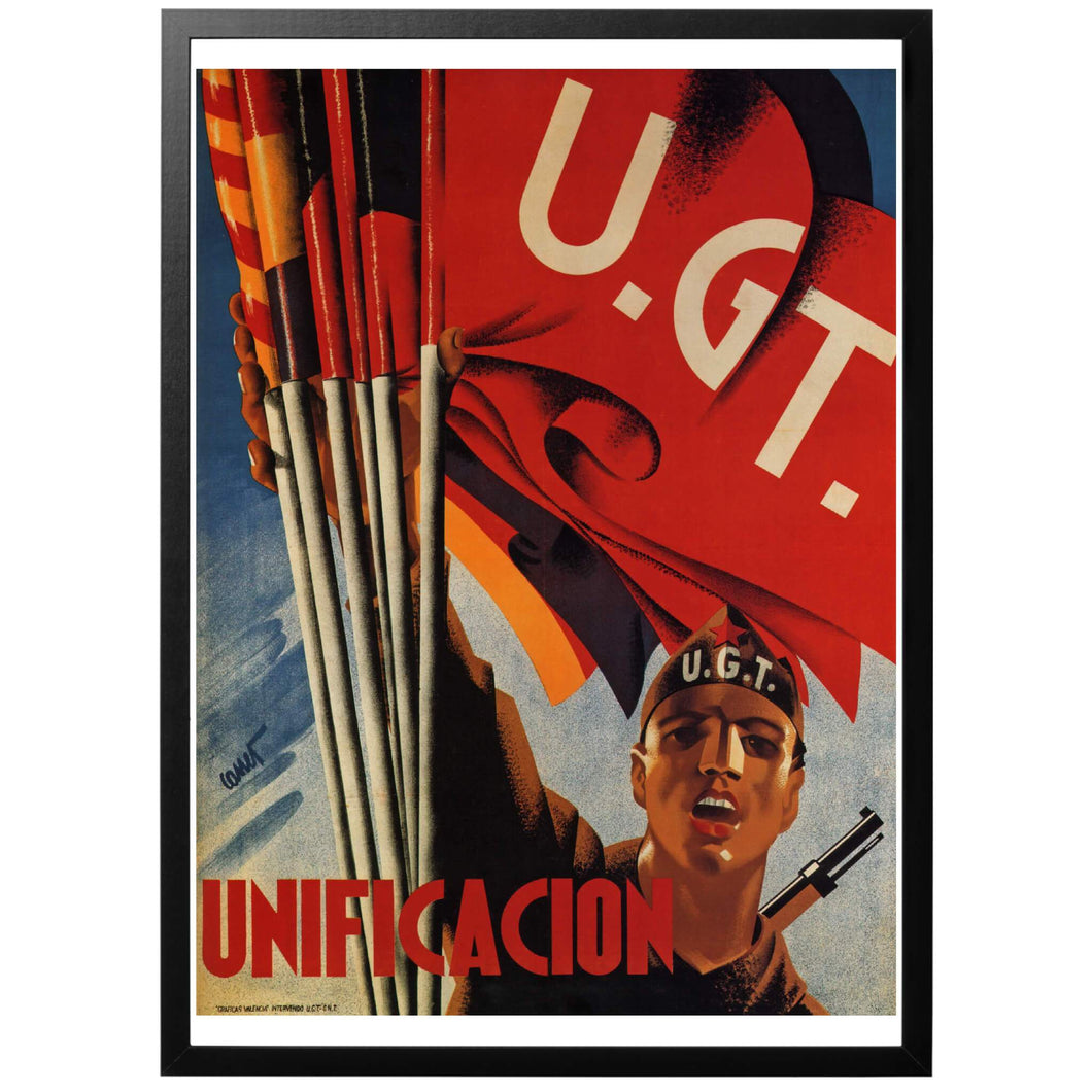 Unificación - U.G.T. Poster - World War Era